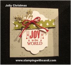 Jolly Christmas www.stampingwithsandi.com