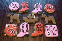 Western / boot / horse / cowboy / cowgirl cookies