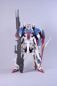 MSZ-006 Hyper Zeta Gundam Gundam Papercraft, Zeta Gundam, Paper Crafts, Tissue Paper Crafts, Paper Craft Work, Papercraft, Paper Art And Craft, Paper Crafting