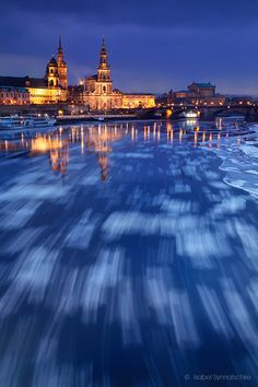 Drifting Ice in Dresen, Germany