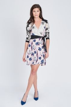 Floral Wrap Dress by BCBGMAXAZRIA at Le Tote