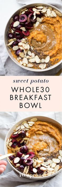 This sweet potato Whole30 breakfast bowl is the perfect Whole30 breakfast: quick and easy, a bit naturally sweet, packed with protein, fiber, and healthy fats. It's strangely delicious, considering how simple of a recipe it is! This sweet potato Whole30 breakfast bowl uses a banana and a couple eggs to generate some serious sticking power, and you'll love how quickly this Whole30 breakfast bowl comes together. Super versatile, too!