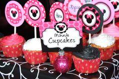 Zebra MIINNIE MOUSE Food Labels Girls Birthday por KROWNKREATIONS
