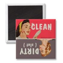 dirty clean dishwasher magnet by bluntcard