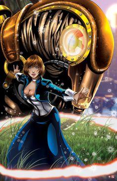 Elizabeth and Songbird - Bioshock Infinite