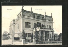 Bogenhausen Villa Stuck, postcard 1907