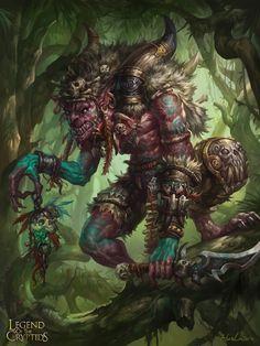 Artist: Lu Hua aka hualu - Title: Unknown - Card: Greedy Goblin King
