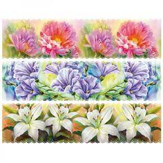 """Zauberfolien """"malerische Blumen"""", Schrumpffolien für Ø10cm, 6 Stück"""