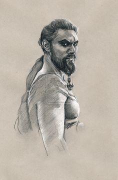 Game of Thrones - Khal Drogo - Sketch WIP by razberis.deviantart.com on @deviantART