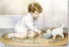Google Image Result for http://prints.encore-editions.com/500/0/bessie-pease-gutmann-feeding-his-white-kitten-milk-from-the-green-bowl.jpg