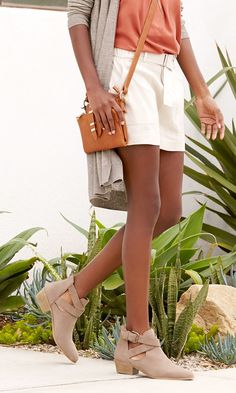 The perfect taupe summer bootie with cool cutouts