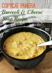 Panera Copycat Broccoli Cheddar Soup Recipe - Copycat of Panera's most delicious Broccoli & Cheese Soup — Make as much as you'd like at home!