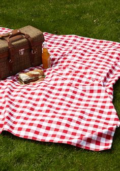 Love the classic picnic blanket! Can be from anywhere... Just love the large red and white gingham! http://rstyle.me/n/it29wnyg6