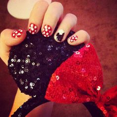 My Micky mouse nails for Disneyland this weekend