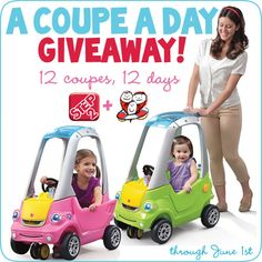 Step2 is giving away 12 Easy Turn Coupes to celebrate the 8th Annual Saving tiny Hearts (StHS) Gala. Enter through June 1st! Plus, Step2 will donate $1 per entry to StHS (up to $10,000)!