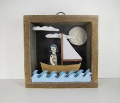 Boat Diorama ⛵ ️#papercrafts #fun #kirigami #kirigamis #origami #origamis #art…