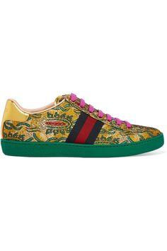 Gucci Ace metallic sneakers