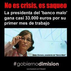 No es una crisis... es un saqueo.