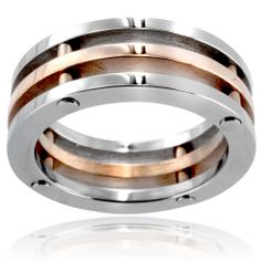 Stainless Steel Men's 3-piece Wedding Band | Overstock.com Shopping - The Best Deals on Men's Rings