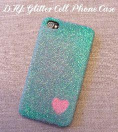 DIY: Glitter Cell Phone Case