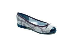 The Eve leather snakeskin upper with leather toe cap ballet flat with a 1.5cm heel.