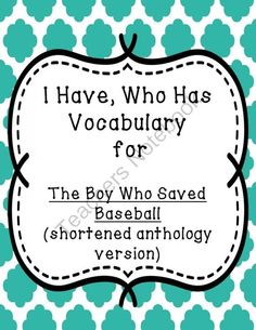 I Have Who Has Vocab Game for Do Knot Enter Shortened Anthology Version from Organized Reading In The Middle on TeachersNotebook.com -  (10 pages)  - This is a fun way to practice the vocabulary for Do Knot Enter (shortened anthology version). Many reading series neglect to include additional vocabulary practice. Here's one solution!