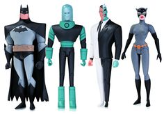 Based on the designs from the hit New Batman Adventures and Batman: The Animated Series comes the first wave of figures of Batman, Mr. Freeze, Catwoman and Two-Face.