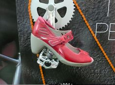 Yes please. Cute commute heels for your bicycle ride.