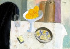 Berény Róbert (1887-1953)  Gyümölcsök, 1930 körül  Olaj, papírlemez, 49,5x69 cm