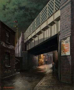 View paintings and fine art prints by renowned British landscape and railway artist - Rob Rowland GRA. Nocturne, Painting Prints, Fine Art Prints, Nostalgic Art, Train Art, Old Street, City Illustration, Highway To Hell, Urban Landscape