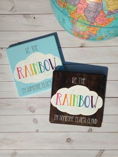 Be the RAINBOW in someone else's cloud - wood sign - motivational decor - inspirational decor - rain Teacher Door Signs, Teacher Doors, Classroom Birthday, Classroom Decor, Hospital Door Signs, Student Birthdays, Birthday Charts, Gifts For Office, Newborn Baby Gifts