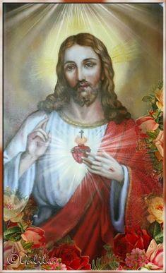 ® Gifs y Fondos Paz enla Tormenta ®: SAGRADO CORAZÓN DE JESÚS Jesus E Maria, Jesus Christ Images, Jesus Face, Holy Quotes, Heart Of Jesus, God Pictures, King Of Kings, Jesus Loves Me, Blessed Mother