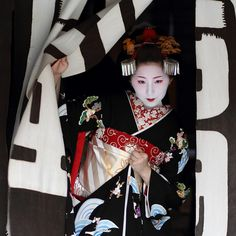 Fumino makes her debut as a maiko (apprentice geisha) in the Gion Kobu district of Kyoto, Japan, photograph by Michael Chandler.