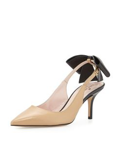 jax bow slingback pump, natural by kate spade new york at Neiman Marcus.