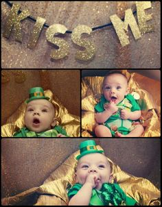 St. Patrick's Day Baby Pictures Lucky Charm Little Leprechaun