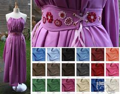 Shae Handmaiden Dress 2.0 in Cotton Batiste with or without Belt (Renfaire, Larp, Cosplay, Wedding) - one size fits all - <MADE TO ORDER>