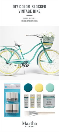 Colorblock Painted Bicycle Take Color To