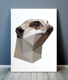 Amazing Meerkat print. Gorgeous Animal decor for your home and office. Adorable Geometric poster. Pretty modern Wildlife print.  SIZES: A4 (8.3 x