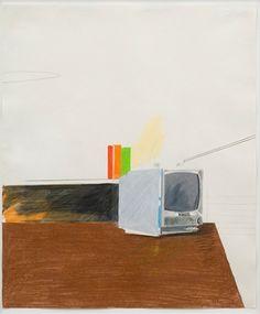 sony tv by david hockney, 1968 David Hockney Artwork, Illustration Tumblr, Pop Art Movement, Call Art, Color Pencil Art, Sketchbook Inspiration, Contemporary Artists, Colored Pencils, Illustrations Posters
