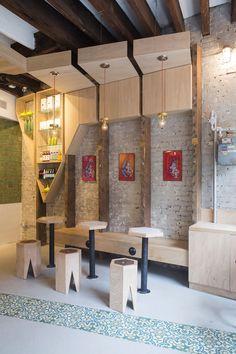 Iconic Cafe Design by Studio Vural Cafe Bar, Cafe Restaurant, Modern Restaurant, Restaurant Chairs, Restaurant Interior Design, Modern Interior Design, Commercial Design, Commercial Interiors, Interior Exterior