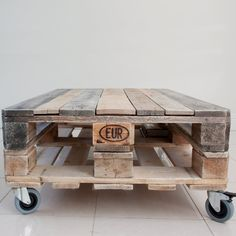 Pallet Coffee Table  Industrial Style  Upcycled by Crative on Etsy