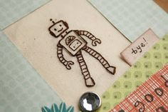 Freehand embroidery robot card | The Savvy Crafter