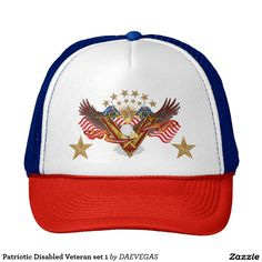 Shop Patriotic Disabled Veteran set 1 Trucker Hat created by DAEVEGAS. Personalize it with photos & text or purchase as is!