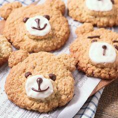 くまさんオートミールクッキー 作り方・レシピ | 料理・レシピ動画サービスのクラシル
