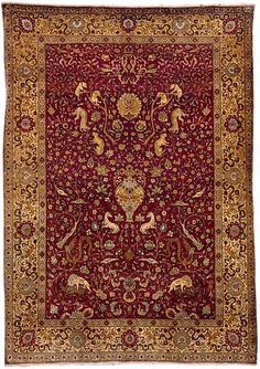 Antique Hereke Rugs: Hereke Silk and Metal Thread Prayer Rug circa 1900 lot 23
