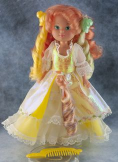 Lady Lovely Locks Maiden CurlyCrown Doll, 3 Bird Pixie Tails, Comb, Shoes | eBay
