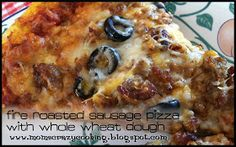 MOMS CRAZY COOKING: Fire Roasted Sausage Pizza {Hodgson Mill} & {GIVEAWAY}