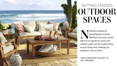 Pottery Barn  creates beautiful spaces to enjoy life indoors or outside with spaces that are comfortable and inviting!