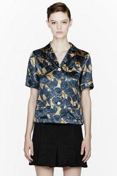 Marc Jacobs Gold Disco Panther Pajama Blouse