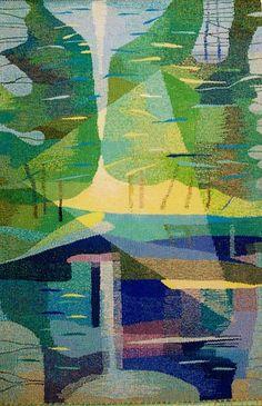 "Tapestry ""Summer Pinewood"". 2000. Wool, linen, 150x100  http://www.tdaile.lt/AUTORIAI/E_Sturmaite/E_SturmaiteVidus.en.htm"